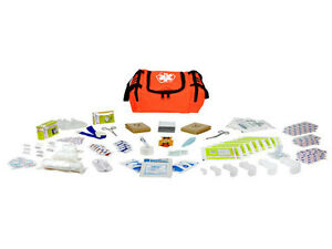 First Aid Responder Ems Medical Emt Emergency Trauma Kit Fully Stocked Orange