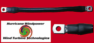 Battery Interconnect Cable Black 9 Inch 2 0 Awg For Solar Panel Wind Generator