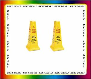 Rubbermaid 2 Pack Safety Cone Height 25 In caution Wet Floor Rcp 627777