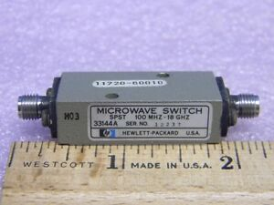 Hp 33144a Sma Rf Microwave Diode Switch Spst 100mhz 18ghz