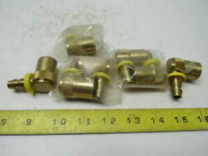 3 8 Push On Mold Coolant Line Brass Quick Coupler Lot Of 7