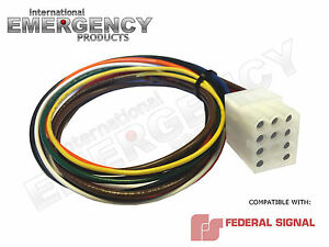 12 Pin Connector Plug Harness Power Cable For Federal Signal Siren Pa 300 Ss2000
