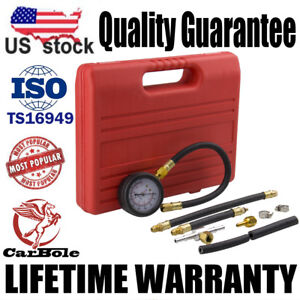 Fuel Pump Vacuum Tester Gauge Leak Carburetor Pressure Diagnostics W Case Us