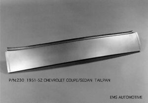 Chevrolet Chevy Sedan Coupe Convertible Tailpan Tail Roll Pan 1951 1952 230 Ems