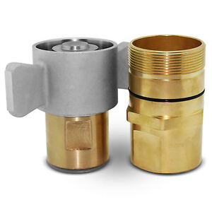 1 1 2 Npt Wet line Wing Nut Hydraulic Quick Disconnect Coupler Coupling Set