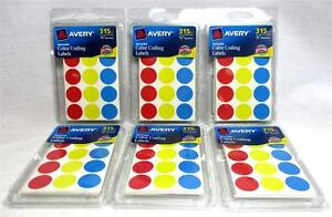 Lot Of 11 340 Avery 6167 Removable Color Coding Labels Price Marking Files A 20