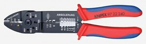 Knipex 9722240 High Strength Crimping Pliers Wire Stripper 18 To 10 Awg Capacity