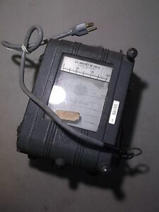 General Electric Ac Amperes Or Volts Ge 18800 Vintage Voltage Meter
