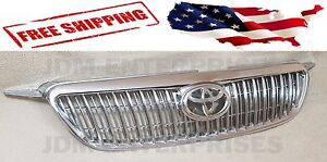 New Altis Chrome Grill With Emblem Fits 2003 2008 Toyota Corolla 04 05 06 07