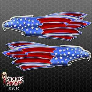 Rv Eagle Usa Flag Decal Fs256 American Us Truck Camper Motorhome Trailer Sticker
