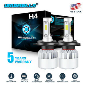 Oslamp Cob H4 Hb2 9003 200w 20000lm Led Headlight Kit Hi Lo Power Bulbs 6500k