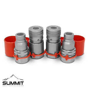 1 2 Flat Face Hydraulic Quick Connect Couplers Couplings Skidsteer Bobcat 2 Sets