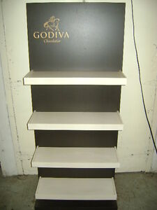 Retail Godiva Candy Display Shelving Unit Set 2