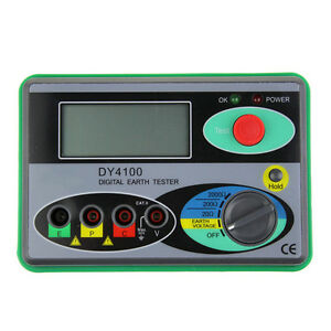 Dy4100 Digital Earth Ground Resistance Tester Meter Grounding Ohm Test