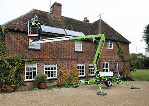 Nifty Tm34t Towable Telescopic Boom Manlift 40 Work Hgt Battery Powered