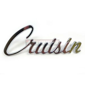 Universal Chromed Trim Emblem Script Cruisin Logo Street Hot Rat Rod Decal