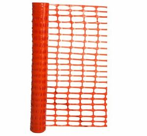 100 ft X 48 in Orange Contractor Sand Snow Fence Barrier Roll Safety Guard Poly