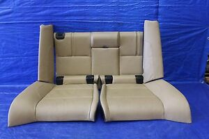 2011 11 Bmw M3 Convertible E93 Oem Tan Leather Rear Seats Assembly S65 V8 1025