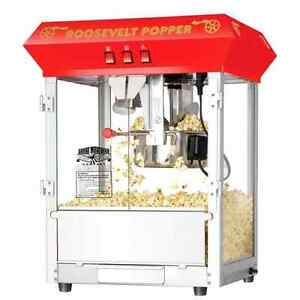 Popcorn Roosevelt Top Antique Style Popcorn Popper Machine Maker 8 Ounce New