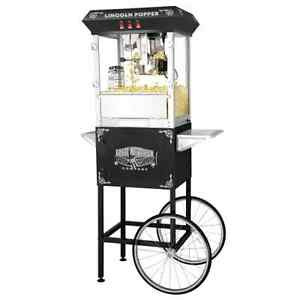 Popcorn Lincoln Full Popper Antique Style Popcorn Machine Complete With Cart 8oz