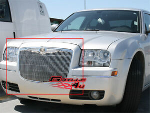 Aluminum Vertical Grille For 05 10 Chrysler 300 300c