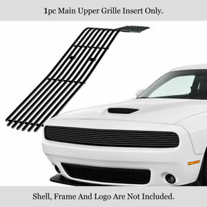 Fits 2009 2014 Dodge Challenger Phantom Black Stainless Steel Billet Grille