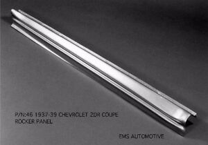 Chevrolet Chevy Coupe Sedan Delivery Rocker sill Panel Right 1937 1939 46r Ems