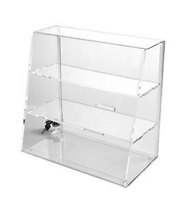 Clear Acrylic Display With Flat Shelves Locking Display Case Free Shipping