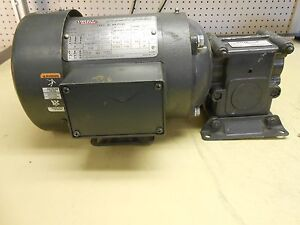 Lincoln Tefc Ac Motor Tf5336c 1 2 Hp 1740 Rpm With Morse Gear Box 15gedc
