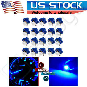 20pcs B8 4d Blue Led Instrument Cluster Dash Gauge Light Bulb For Saturn ford