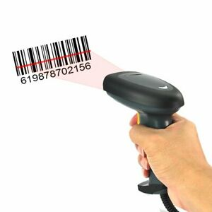 2 4ghz Wireless Portable 1d Laser Usb Barcode Scanner Label Reader Gun Pos Pc