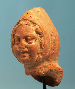 Greek Terracotta Head Of A Comic Actor Ancient Art Antiquities