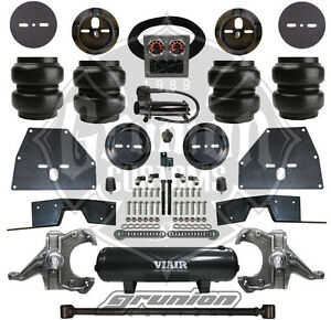 Chevy C10 71 72 Front Rear Air Bag Suspension Kit W Tank Compressor Spindles