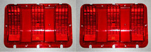 New Fomoco Logo 1967 1968 Ford Mustang Tail Light Lenses Pair Left And Right