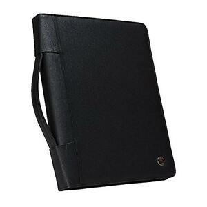 Case it Executive Zippered Padfolio With Removable 1 inch Binder Handle And Uni