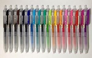 Muji Clear Ballpoint Gel Pen 0 5mm 16 Colors Set New Free Shipping