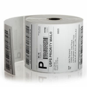 Zebra Shipping Labels 4x6 500 Labels Roll Zp 450 Lp 2844 Direct Thermal