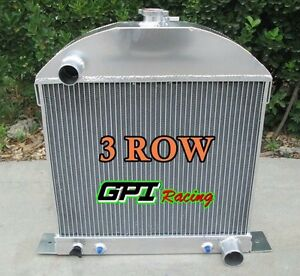 3 Row Aluminum Radiator For 1930 1931 Ford Model A Chevy Engine 30 31 At Mt
