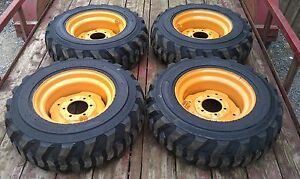 4 New 10x16 5 Skid Steer Tires Rims For Case 1835 1838 1840 10 16 5 10 Ply