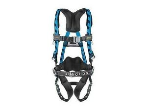Miller Ac tb bdp Blue Harness With Side D rings And Tongue Buckle Leg Strap