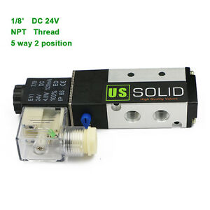 U s Solid 1 8 Pneumatic Electric Solenoid Valve 5 Way 2 Position Dc 24v Air