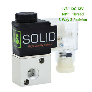 U s Solid 1 8 Pneumatic Electric Solenoid Valve 3 Way 2 Position Dc 12v Air