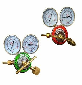 2 Piece Set Psi King Oxygen Acetylene Regulator Set Large