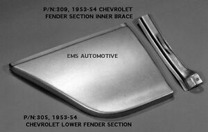 Chevrolet Chevy Car Fender Patch Panel Kit Right 1953 1954 305r 309r Ems