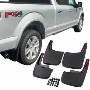 Ford F 150 Mud Flaps 2015 2018 Mud Guards Splash Flares 4 Piece Front Rear