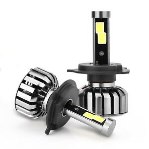 Pair H4 9003 Hb2 120w 10000lm Cree Led Headlight Car Kit Hi Lo Beam Bulbs 6000k