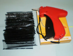 Fine Clothing Garment Tagging Tagger Tag Gun With 1000 Black Fasterners Barbs