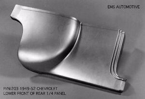 Chevrolet Chevy Sedan Front Quarter 1 4 Panel Right 1949 1952 203r Ems