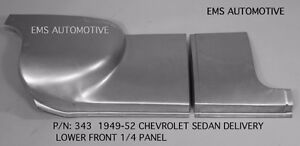 Chevrolet Chevy Sedan Delivery Front Quarter 1 4 Panel Right 1949 1952 343r Ems
