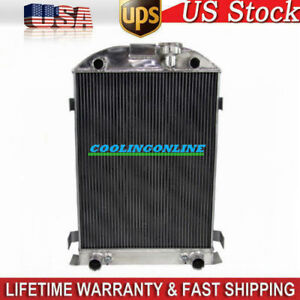 4 Row Core Aluminum Radiator For 30 31 Ford Model A Flathead Engine Height 28